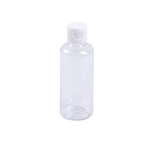 Beaupretty 20 Piezas Botella de Champú Recargable Transparente Portátil a Prueba de Fugas Vacío Cosmético Contenedor de Viaje Titular Artículos de Tocador Suministros para Líquidos de Loción 100 Ml