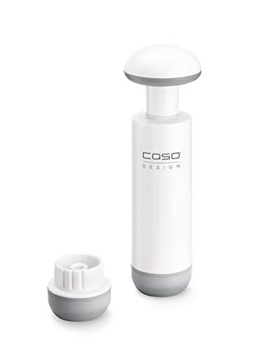 CASO Adapter & Pump-Set - für alle CASO VacuBoxxen und ZIP-Beutel mit Ventil, passender Adapter für CASO Vakuumierschlauch, Handvakuumpumpe