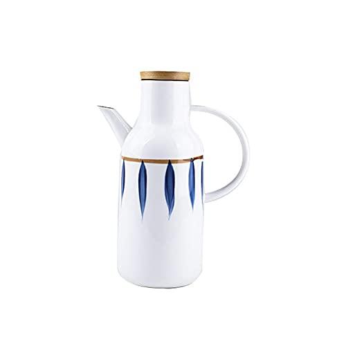 Botellas de Aceite Botella de aletreo de cerámica superior y vinagre del dispensador de vinagre con la botella de aceite simple de la botella de aceite dispensador de vinagre y Aceite