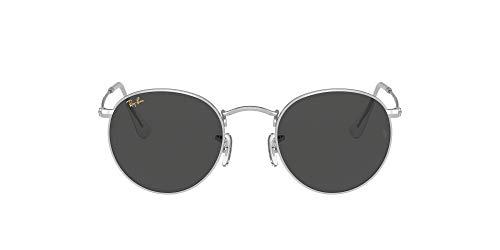 Ray-Ban Rb3447 Round Metal Gafas, Plata, 53 Unisex Adulto