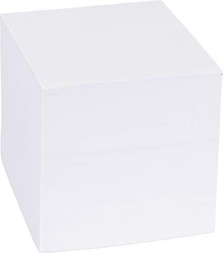 König & Ebhardt 8601010 Ersatzeinlage für Zettelbox (9 x 9 x 9 cm, 700 Blatt) weiß (12 Stück)