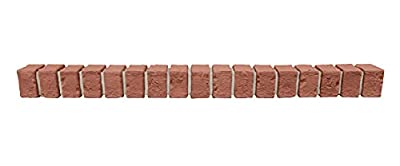 """GenStone Faux Brick Ledger 42"""" x 3"""" x 3.75"""" in Classic Brick Color for Do It Yourself Friendly Home Improvement Projects"""