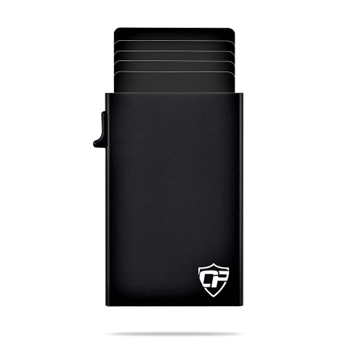 Card Blocr Best Minimalist Wallet RFID Blocking Metal Credit Card Holder (Black Trigger)