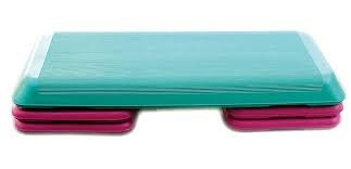 Grupo Contact Step Aerobic, Profesional con 4 Alturas (escalones) Color Verde/Rosa. Medidas: 110 x 42 x 21 cm.