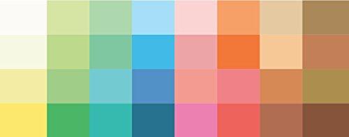 Großer Farbpass Frühlingstyp 32 Farben Farbkarte Frühlingstyp, Farbkarte, Frühlingsfarben Frühlingstyp,warmer Farbtyp, Farbfächer, Farbberatung, Typberatung, Farbkarten, Farbpalette