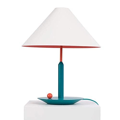 LATOO Lámpara de escritorio moderna de estilo minimalista para sala de estar, sombreros/habitación de los niños, dormitorio, estudio, lámpara de cabecera (color: amarillo) (color: rosa)