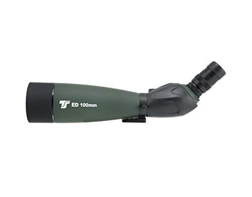 TS-Optics Final100 Spektiv 22-67x Vergrößerung für Sportschützen, für Jagd oder Vogelbeobachtung inkl. 360° Stativ Kamera Adapter F-ED-Objektiv