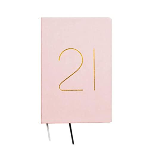 Bloc de Notas Cuaderno para Trabajos Funda Dura 5.8 x 8.2 Pulgadas para la Escuela para niños Escribir Pads Libros 201 Hojas Diario (Color : Pink)