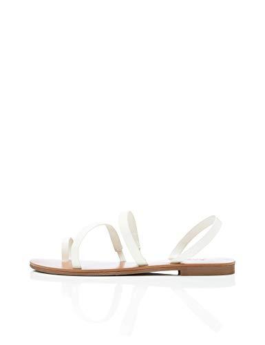 find. Innis Multi-Strap Sandali Punta Aperta, Bianco White), 38 EU