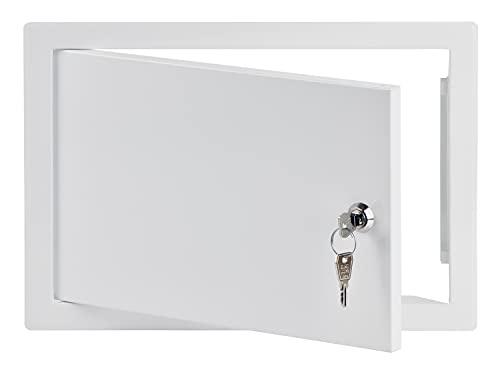30x20 cm Revisionsklappe Revisionstür Revisionsschacht Weiß Wartungsklappe mit Schloss (300x200 mm)