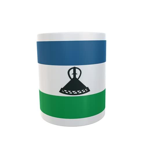 U24 Tasse Kaffeebecher Mug Cup Flagge Lesotho