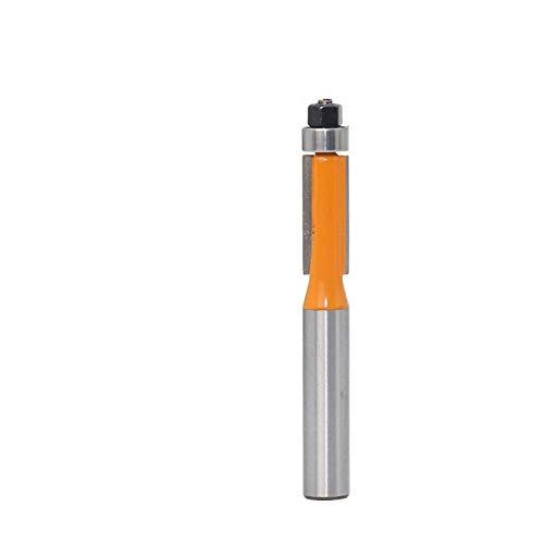 NO LOGO 1pc Escalera de Color Recorte Router bit de Madera con la Tapa de cojinete 8 mm Vástago de carburo de tungsteno Molino de Cara Tratamiento de la Madera Fresas (tamaño : As Show)