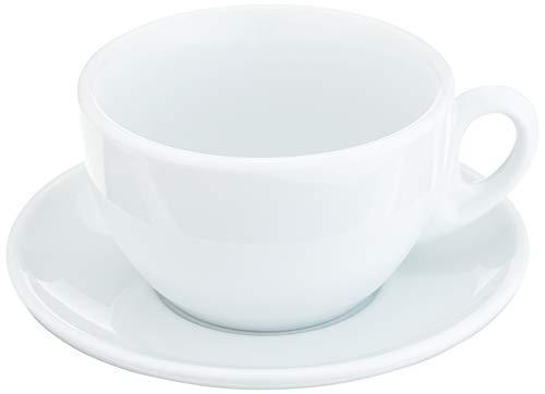 Cilio 0000215021Leche Taza de café Roma, Porcelana, Color Blanco