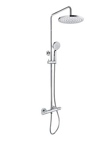 Strohm Teka - Columna de ducha termostática HEALTHY con sistema anti-bacteriano, anti-quemaduras