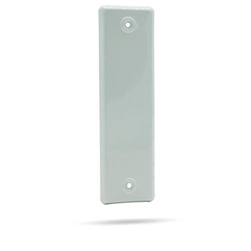 Gurtwicklerblende Rolladengurt-Abdeckung, geschlossen, Weiß, Lochabstand 185 mm, 10 Stück