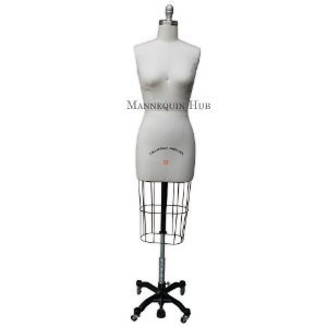 Big Sale (ST-SIZE8) Model #601 Professional Dress Form Female Half Body Size 8 Collapsible shoulder