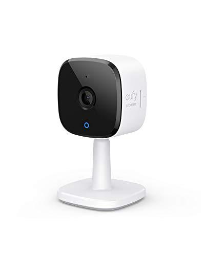 eufy Security Indoor Cam 2K Plug-In Überwachungskamera für Innenbereiche, mit WLAN-Funktion, Personenerkennung, IP Kamera, Sprachassistent, Bewegungssensor, Nachtvision, HomeBase Nicht kompatibel