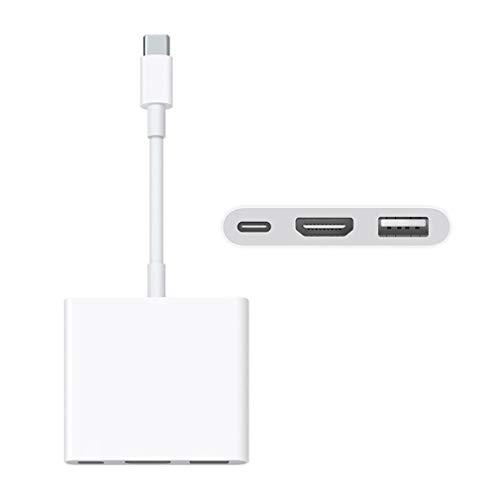 Hanone Adaptador multipuerto AV Digital USB-C con Puerto USB Blanco Durable para Apple White