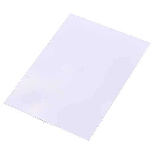 Aibecy 25枚の白い印刷可能なシュリンクフィルムキットシュリンクアートフィルム紙熱収縮シートは、DIYペンダント用インクジェットプリンター用に印刷できますイヤリングキーホルダー装飾品アクセサリー、8.3 * 11.4インチ