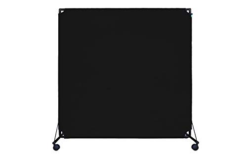 VERSARE VP6 Economical Rolling Room Divider | Durable, Lightweight and Easily-Transportable Black 6 x 6