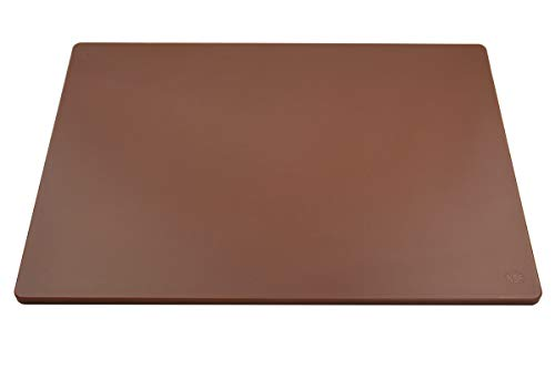Professional Plastic Cutting Board, HDPE Poly for Restaurants, Dishwasher Safe and BPA Free, 24 x 18 x 0.5 Inches, Brown