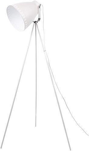 Leitmotiv - Stehlampe Mingle - Weiß - Metall - Ø26,5 x H145 cm - E27, 40W