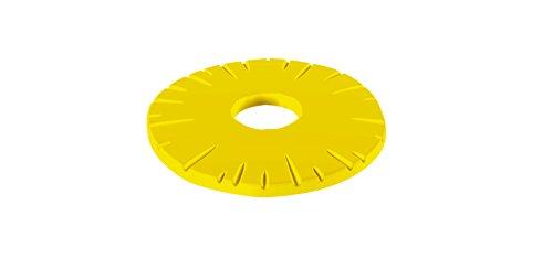 Zak Designs 1530-900 Dessous de Plat Ananas 15 cm-Jaune, Plastique, 45x35x25 cm
