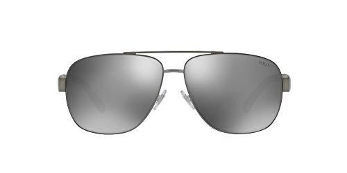 Ralph Lauren POLO 0PH3110 Gafas de sol, Demi Shiny Dark Gunmetal, 60 para Hombre
