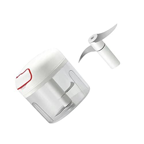 Lurrose Minicadora Manual de Ajo Procesadora de Alimentos para El Hogar Licuadora de Cebolla Verdura Jengibre Chile para La Tienda de Cocina en Casa