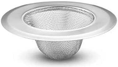 5 Packs Stainless Steel Basket Sink Mesh Strainers Food Catcher, Anti-Clogging Drain Strainer Filter with Wide Rim, Sink P...