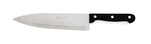 Quid Cuchillo Carnicero 20Cm Kitchen Chef, Acero Inoxidable, Negro, 0.36 cm