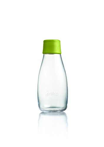 ApS Retap 0,3 litro Botella de Agua o Peque o Cristal de borosilicato, de Manga Corta
