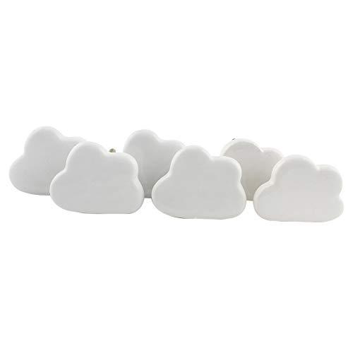 IndianShelf Handcrafted Assorted Pack of 10 Artistic Cloud White Knobs Cabinet Knobs Drawer Pulls Door Furniture Handles Vintage Mix Combo Designer Gift