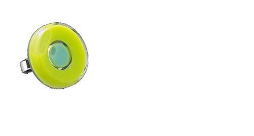 Pylones Ring aus Glas – Duo Medium, Hellgrün
