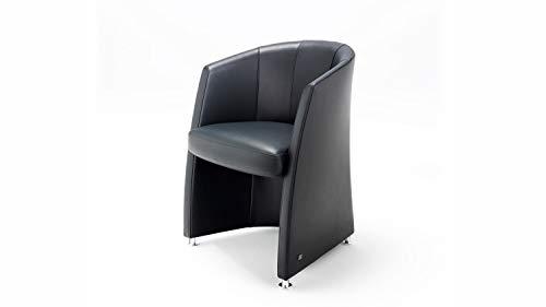 Möbel Akut Sessel Rolf Benz ST SE 7300 Echt Leder schwarz Esszimmer Sessel Wohnzimmer Cocktailsessel Leder schwarz