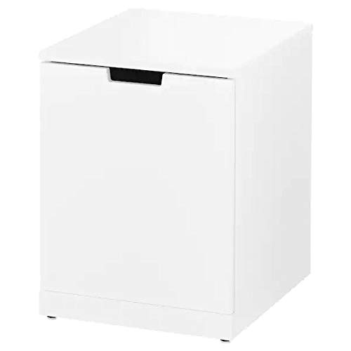Ikea NORDLI Cassettiera, Comodino, Seduta, Bianco, 40x54 cm