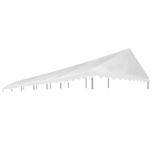 vidaXL Techo Carpa Celebraciones 6x12 m Blanco 450 g/m² Parasol Terraza Patio