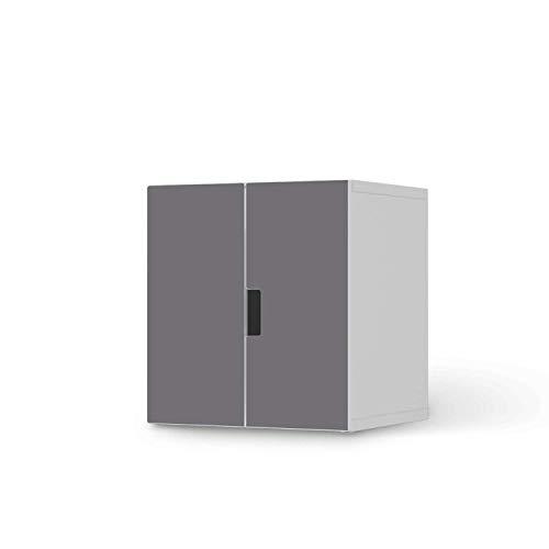 creatisto Möbelfolie selbstklebend für Kinder - passend für IKEA Stuva Schrank - 2 kleine Türen I Tolle Möbeldeko für Kinderzimmer Deko I Design: Grau Light