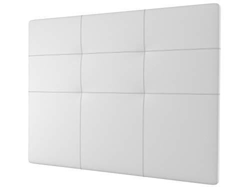 LA WEB DEL COLCHON - Cabecero tapizado Andrea para Cama de 105 (115 x 120 cms) Blanco