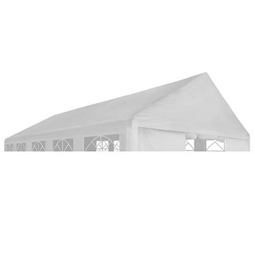 vidaXL Dach für Partyzelt Zelt 4x8m Weiß Ersatzdach Dachplane Pavillondach