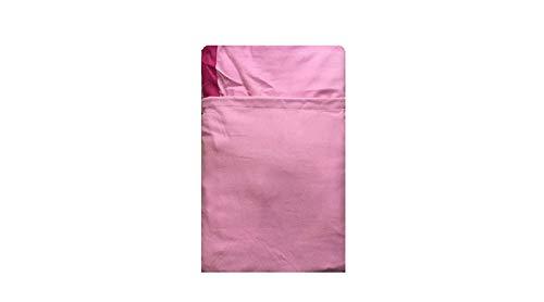 Coprilettino Telo Mare Lettino con Tasche e Borsetta in Microfibra (Rosa)