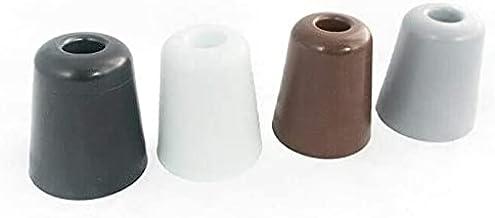 2 x Esthetische Deurstop Bumpers met Montage Schroef Gate Stopper - PVC Rubber Materiaal - knop Stop Bumpers - 70mm x 80mm...