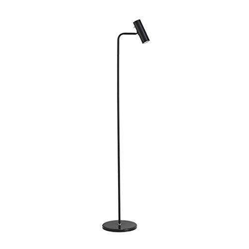 WYFX -Luces de Piso Lámpara de pie LED Negro Sencillez Moderna Sala de Estar nórdica Dormitorio Sofá Lámpara de Mesa Vertical Lámpara de cabecera Lámpara de Lectura Luz de Lectura LED