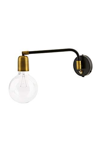House Doctor wandlamp, moleculaire look, zwart/messing gecoat