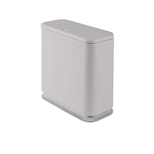 whale fall Mülleimer Push-Typ Kunststoff-Papierkorb Büropapierkorb Küche Abfalleimer Badezimmer Vorratsbehälter Reinigungswerkzeug (Capacity : Large Capacity, Color : Grey(Rectangle))