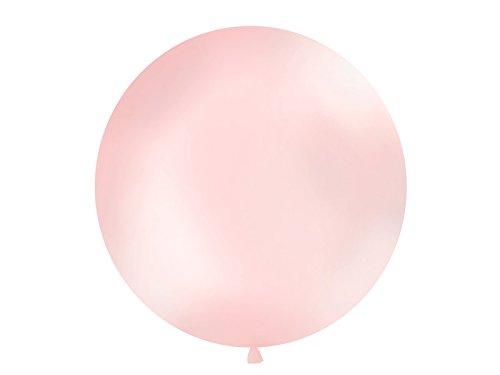 Riesen Luft-Ballon XXL/Hochzeits-Ballon in Metallic Rosa - Durchmesser ca. 100cm - Hochzeits-Deko/Geburtstags-Dekoration/Luft-Ballons groß/Helium-Ballons (3 Ballons)