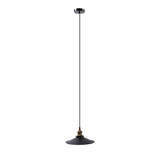 Ruqias Vintage Industrial techo lámpara colgante sombra metal lámpara pantalla colgante lámpara lámpara decoración (barco de Alemania)