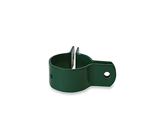 5 Abrazaderas metálicas de 48 MM para vallados (inicio, continuación y esquina) (Esquina, Verde)