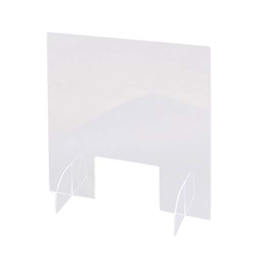 Sneeze Guard Acrylic Sheild for Counter, Clear Sneeze and Cough Barrier Protective Shield Guard for Countertops, Reception Desk,Cash Register, Office, 15.