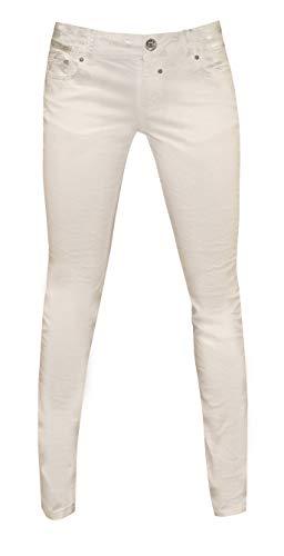 Coccara Damen Jeans Hose Curly White
